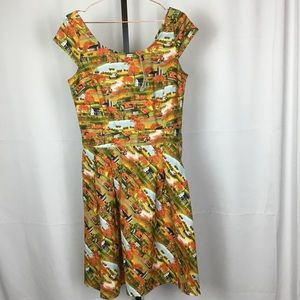 ModCloth Retrolicious Dress XL Pumpkin Patch NWT